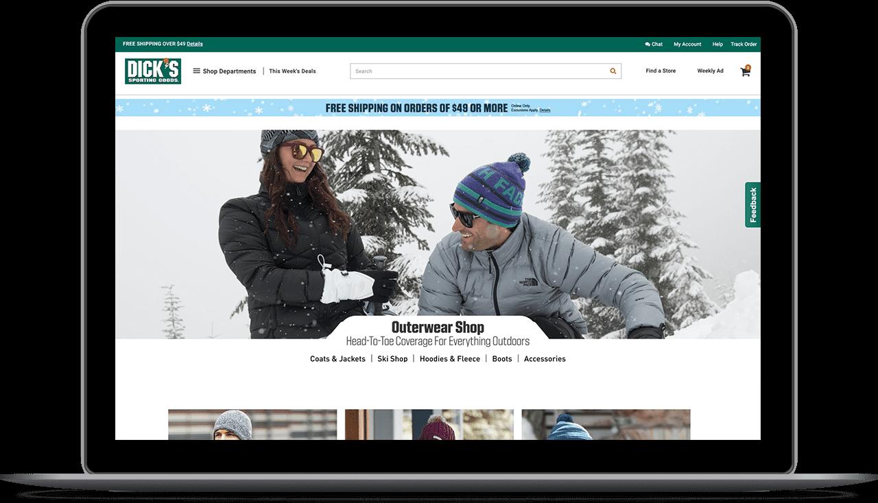 Image of Dicks Sporting Goods Website