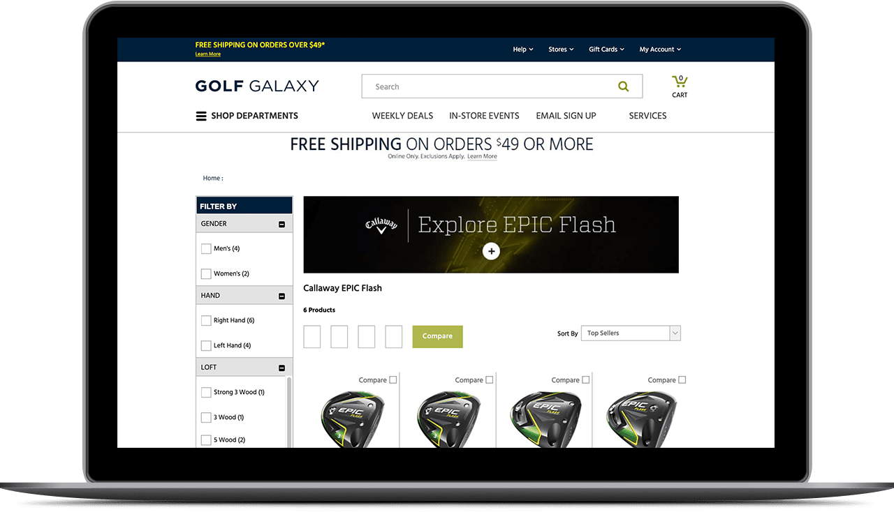Image of golf galaxy