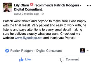Lily Olaru's testimonial of rodgersengineering.com