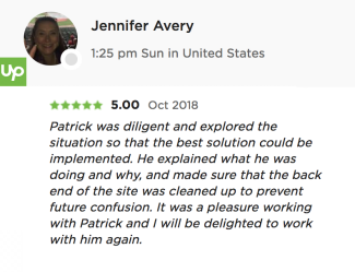 Jennifer Avery's testimonial of rodgersengineering.com