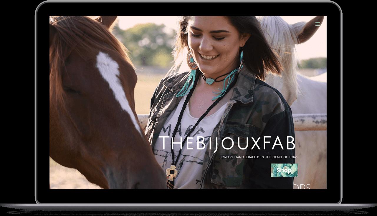 Web Design portfolio image of TheBijouxFab.com